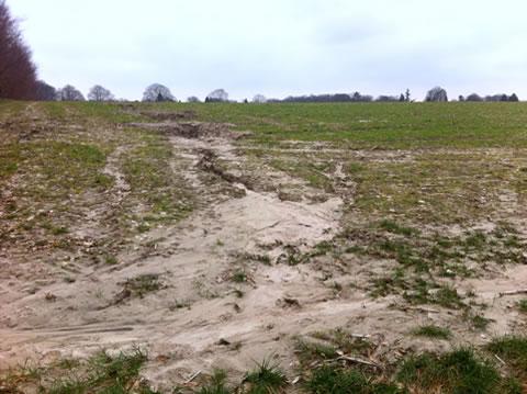 Erosie (rand stuwwal)