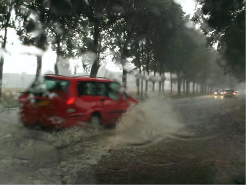 Wateroverlast na hevige neerslag