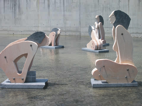 Kunst in vijver
