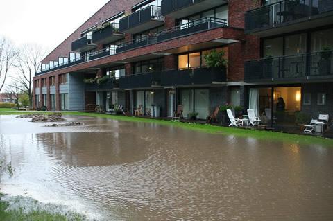 Wateroverlast in Limosterrein