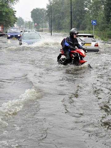 Wateroverlast op de weg