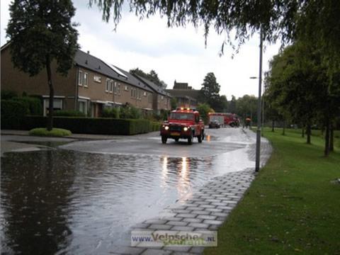 Wateroverlast op weg
