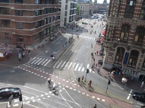 Kruispunt zonder groen