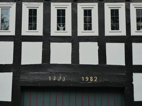 Karakteristieke huizen zijn herbouwd