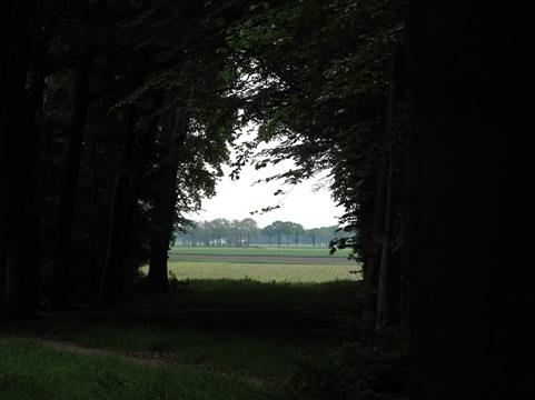 Uitzicht vanuit zichtas op landelijk gebied