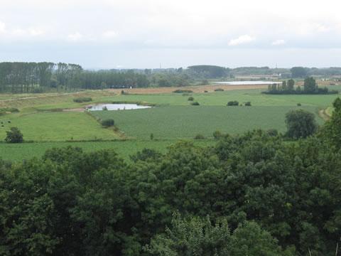 Uitzicht over Ooijpolder vanaf stuwwal Nijmegen