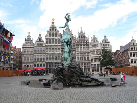Plein in Antwerpen