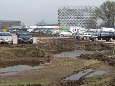 Wateroverlast parkeerterrein