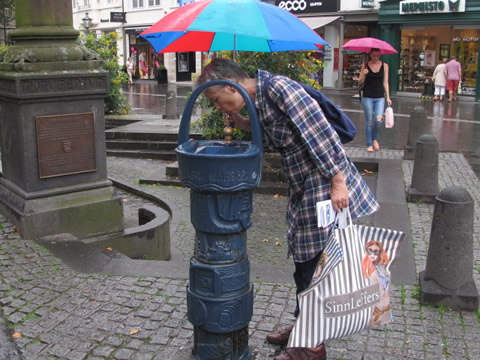 Drinken aan fonteintje